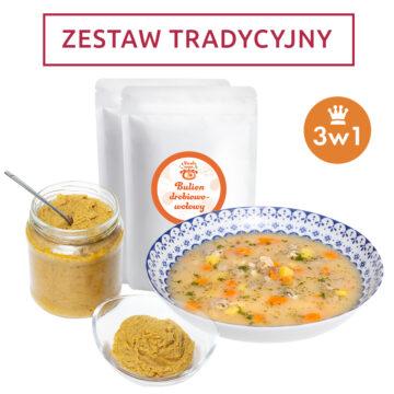 Zestaw tradycyjny 3w1 – bulion, koncentrat, zupa