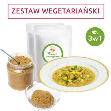 Zestaw wegetariański 3w1 – bulion, koncentrat, zupa