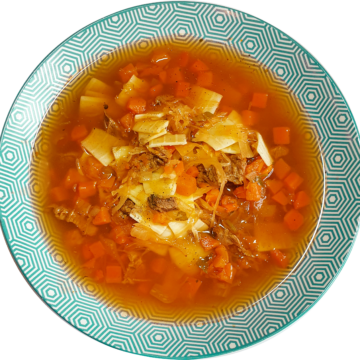 HIT Łazankowa – Z kapustą kiszoną, wołowiną i makaronem